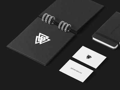 Sharp Relief brand skateboard branding type symbol black stationary identity logo