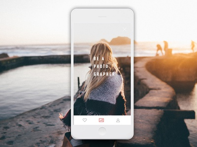 Photography App interface contest photography ios design product ux ui app