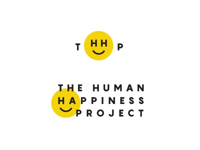 Happiness non-profit acronym face smiley smile treatment swiss identity branding logo