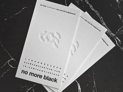 Business Cards - No More Black by KOS
