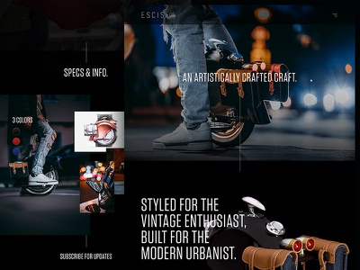 Personal Mobile Device scroll photography black type marketing ecommerce landing homepage