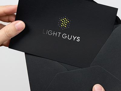 Light Guys identity dots fade type house light icon mark branding logo