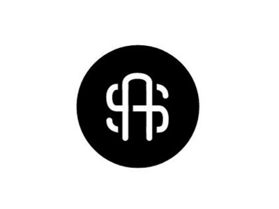As Monogram monogram as black circle letterform design