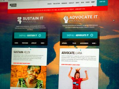 Invisible Children invisible children shop store ui web buy sustain advocate non-profit
