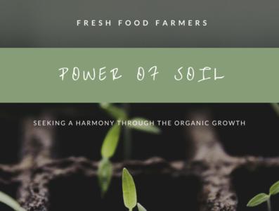 Green Plant Photo Farmers Market Poster