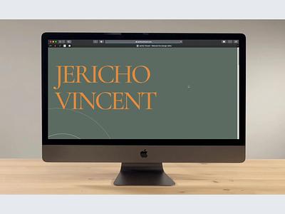 Jericho Vincent Website color ux website design