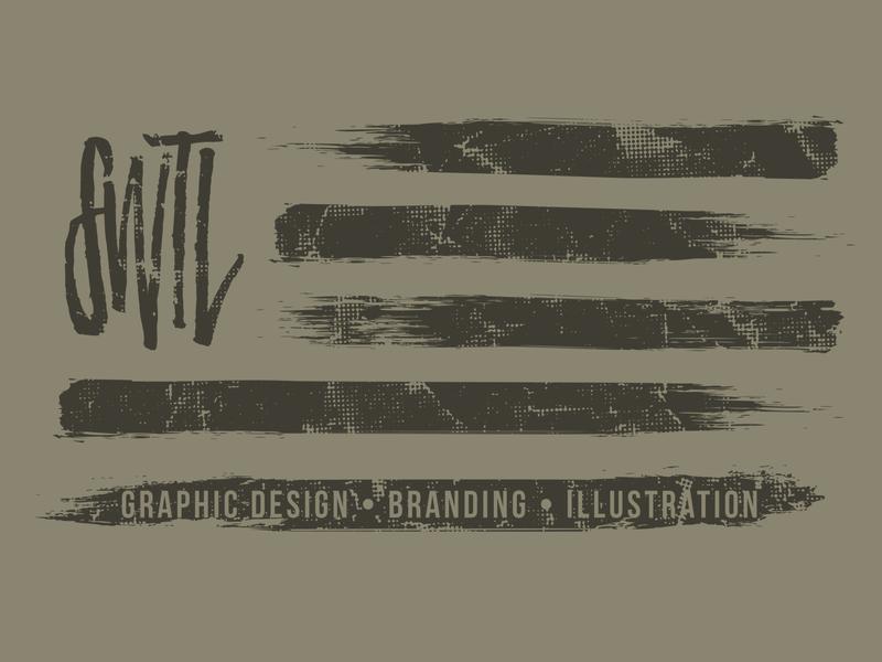 The Flagship brush flag logomark design illustration logo identity branding swtldesignco swtl