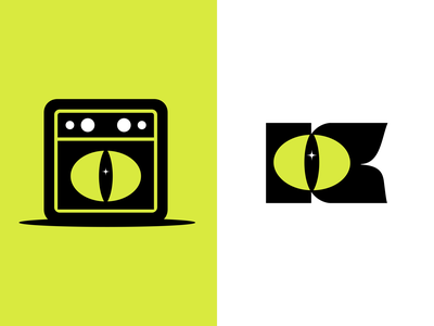 Katz Reject Drib 02 amp eye cat logomark logo identity branding swtl swtldesignco