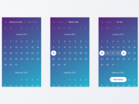 Flight booking concept. calendar  2x