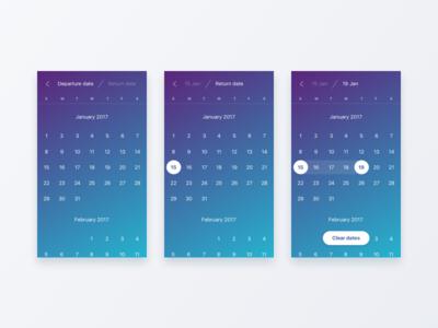 Flight Booking Concept. Calendar