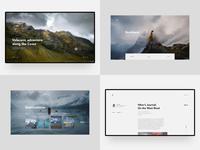2018 blog travel animation website mobile ios app web interface clean minimal ux ui