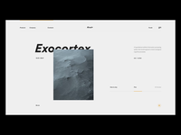 Exo + cortex ui ux minimal clean interface web app website animation nature artifical after effects interactive