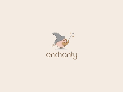 Enchanty Baby Boutique Logo magic star star logo star wizard magic enchanted enchant bird vector bird logo graphic design design branding vector dribbble colorful branding design logo boutique logo baby