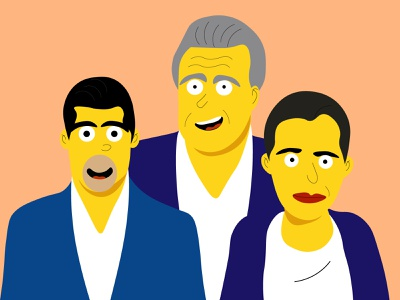 The Simpsons Lenin Otto Y Ministra illustration