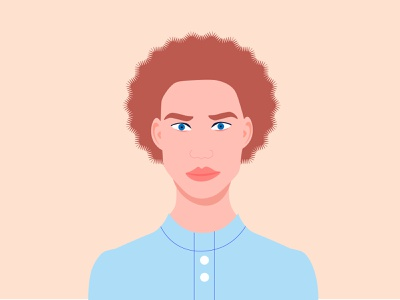 Man with new haircut illustration