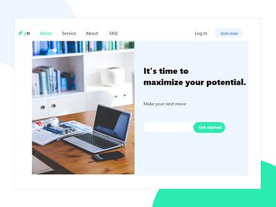 Simple landign page ux design web