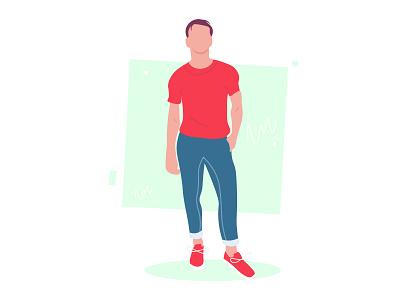Simple flat design illustration