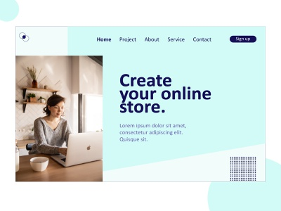 Landing page Service design vector