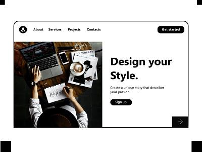 Landign page Design ux web