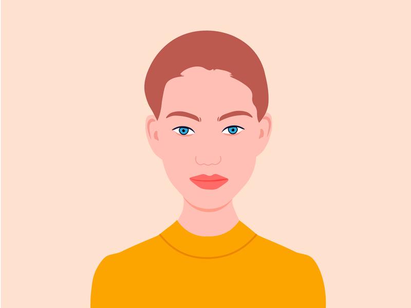 Beauty model illustration