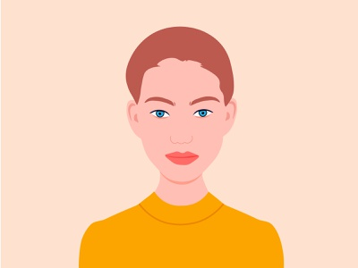 Beauty model illustration
