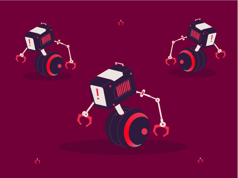 Robot future illustration