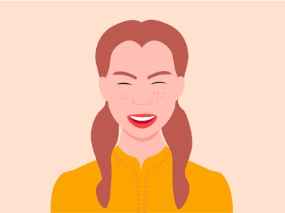 Happy woman illustration