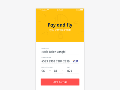 Daily UI challenge 002 checkout credit card iphone linear line clean ui dailyui