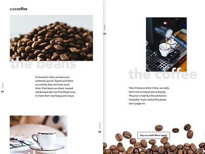 DailyUI Challenge 003 grid layout white space black coffee minimal