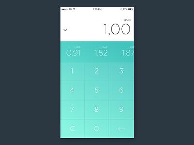 DailyUI Challenge 004 dailyui green ios mobile app ui gradient minimal currency calculator