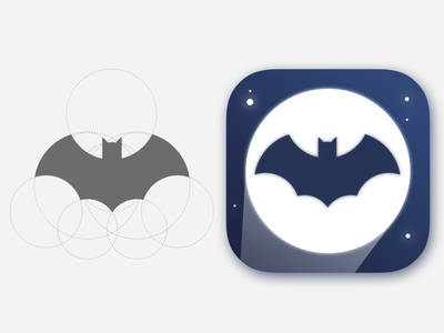 DailyUI Challenge 005 App Icon night gradient app icon app icon gotham city batman