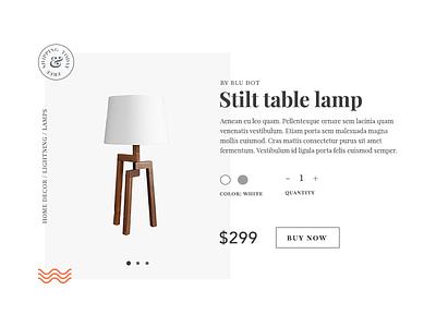 DailyUI Challenge 012 - Ecommerce item overlap serif layout minimal product item shop ecommerce