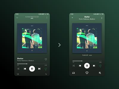 Spotify Redesign xd design uxdesign music app ui  ux uiux ui music redesign spotify