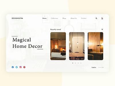 Interior Design Agency | Website designsutra minimalistic design gallery adobe xd figma interior design web design ui ux