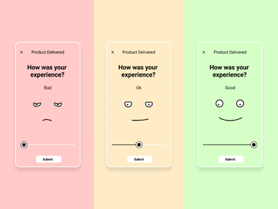 User rating system - Product delivery figma design emotion reaction rate ui user rating