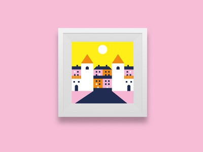 Tallinn illustration 🏰 🇪🇪 city illustration city icon a day illustrator icon artwork design vector flat illustration graphicdesign icon