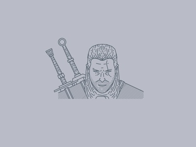Tribute portraits: Geralt of Rivia videogame icon artwork vector art illustrator geralt portait design vector logo illustration flat graphicdesign icon