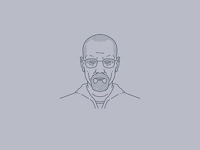 Tribute portraits: Walter White minimal walter white walterwhite breakingbad portrait icon artwork design vector logo illustration flat graphicdesign icon