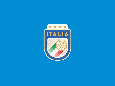 Italy - Logo redesign football football app badge branding icon artwork design vector logo illustration flat graphicdesign icon