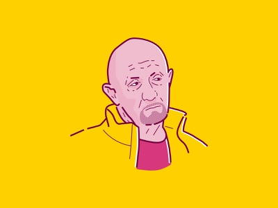 Mike Ehrmantraut pink iconic icon portait mike saul goodman better call saul breakingbad icon a day illustrator icon artwork design logo vector flat illustration graphicdesign icon