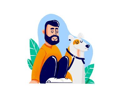 Friends procreate art ipad procreate brushes dog procreate procreateapp icon artwork design flat illustration graphicdesign icon