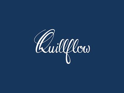Quillflow design logo typography illustration