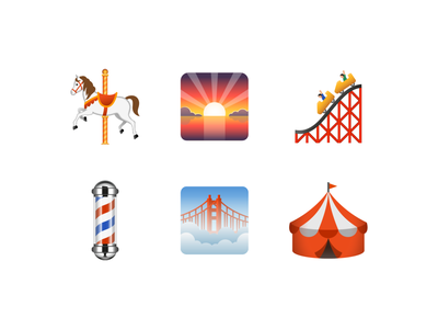 Emoji: Places emoji design vector color illustration icon