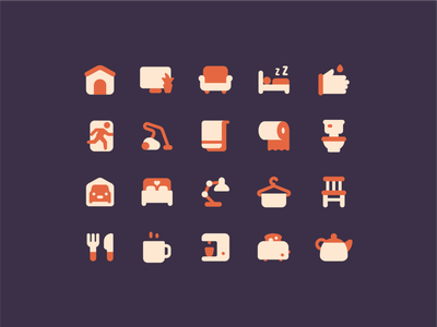 Plumpy: household household house ux ui design color vector illustration icon
