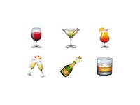 Vector Emoji Collection - Drinks