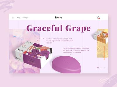 Fruite - Homepage design UI Exploration