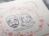 Wedding Announcement Mockup