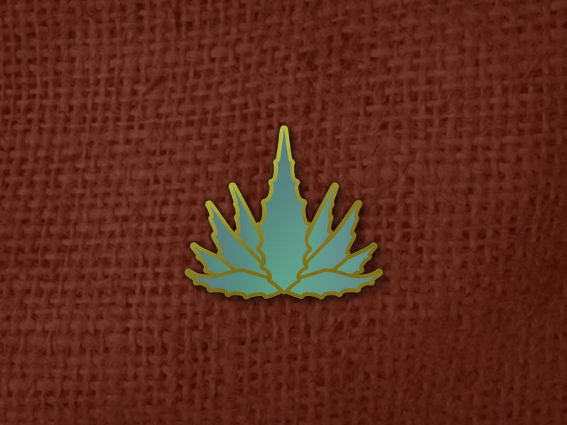 Agave Pin collectable plant gradient enamel pin cactus succulent aloe agave