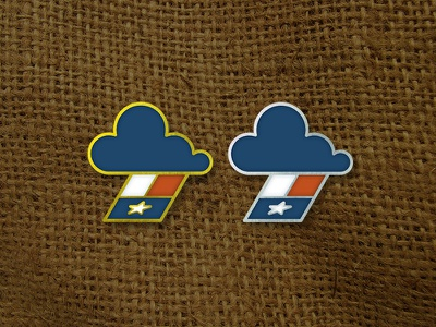 [WIP] Rainy Texas hurricane sky rain cloud burlap star flag mock up pin harvey texas