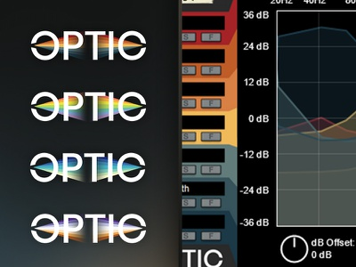 OPTIC: Additional Colorways development interface ui colorways audio prism optic gradient rainbow branding logo